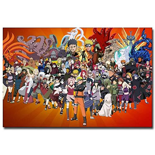 TTXD Puzzle 1000 Piezas Adultos,Naruto Shippuden Anime,Puzzle Rompecabezas para Niños, Juguete Educativo de Regalo, Divertido Juego Familiar para Adolescentes, Regalos 75x50cm