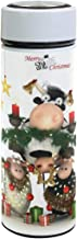 Christmas Cartoon Shaun The Sheep Stainless Steel Water Bottle Double Vacuum Insulated Wide Mouth Water Bottle | Thermos - Keep Water Temperature For 12 Hours Leakproof 17 Ounces