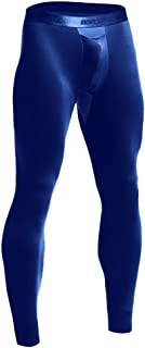Lancy_Luna Men's Stretch Gym Workout Running Leggings Compression Tights Base Layer Bottom Thermal Pants Sports Jeggings P...