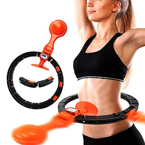 QAZXCV Gewicht Hula Hoop Smart-Hoop Nie Fall Down, Mit Veränderbarer Länge Übungs-Eignung Für Core-Strength & Bauchtrainer Heim Übung