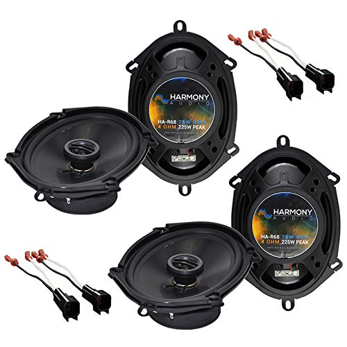 Harmony Audio Bundle Compatible with 2000-2005 Ford Excursion (2) HA-R68 5x7 6x8 New Factory Speaker Replacement Upgrade Package 225W Speakers with HA-725600 Speaker Replacement Harness