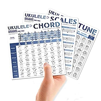 Ukulele Chords Chart Mini Card Chords Cheatsheet of Chord Formulas Chord Progressions and Circle of Fifths Perfect Reference for Ukulele Beginners and Teachers
