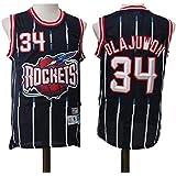 CCKWX Camisetas De La NBA Houston Rockets - # 34 Olajuwon Retro Jerseys del Baloncesto, Fresco Y Transpirable De Tela Unisex Camiseta Sin Mangas,S:170cm/50~65kg