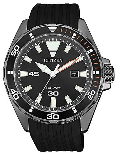 Citizen Herren Analog Quarz Uhr mit Kunststoff Armband BM7455-11E