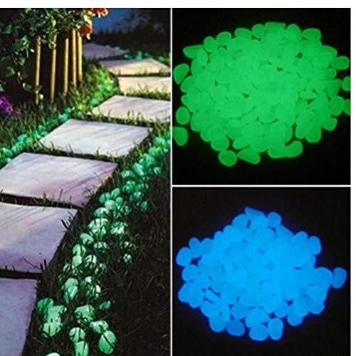 PiniceCore 10 Stück Glow Dark Garden Kiesel Glow Steine ??Luminous Rocks Für Gehwege Gartenweg Rasen-Garten-dekor