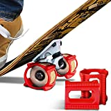 Trick Trainer (4-Pack, Red) for Skateboard Wheels - Best Gifts for Kids Christmas Stocking Stuffers - Fits 48-65mm Sizes incl 52, 53, 54, 55 & 56mm PU -...