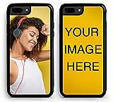 Custom iPhone 8 Plus Cases iPhone Cover iZERCASE [Personalized Custom Picture CASE] Make Your Own Phone Case (Black, iPhone 8 Plus)