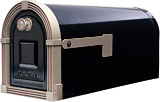 Gibraltar Mailboxes BM16BSN1 Brunswick Rural Mailbox, Large, Black and Satin Nickel