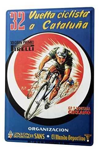 LEotiE SINCE 2004 Plaque en Métal Métallique Poster Mural tin Sign Sport Course de vélo Cataluna