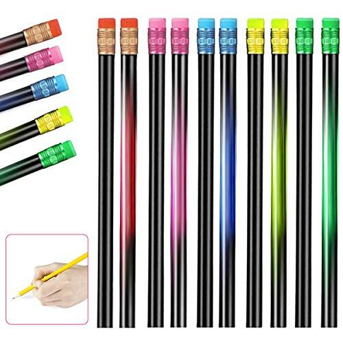 Lápices de cambio de color 2B, 20 unidades, lápices de colores que cambian de color, color negro, cambia de estado de ánimo, cambia de color, cambia de color con el termo cromático