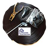 Foghorn Construction - Brown Privacy Tape for Chain Link Fence - 250 Feet Long - UV Stable and Includes Hole Punch Tool and Snaps - Privacy Brown