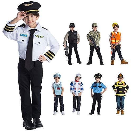 Viste a América - 833 - Establecer Vestuario piloto - Edad 3-6 años - One Size - Niños 3-6 años