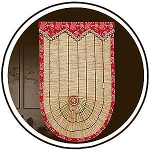 HAIPENG-Persianas Estores De Bambú Enrollable Ventanas Guisado Al Gratén Persianas Enrollables con Doselera Caña por Ventana Puertas Cortina Personalizado (Color : A, Size : 140x160cm)