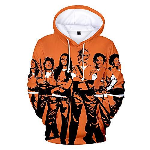 Orange is The New Black Sweatshirt 3D Patterned Color Printing Fashion Hoodies Sweatshirt aus Reiner Baumwolle Bequeme Pullover Unisex Orange is The New Black Pullover