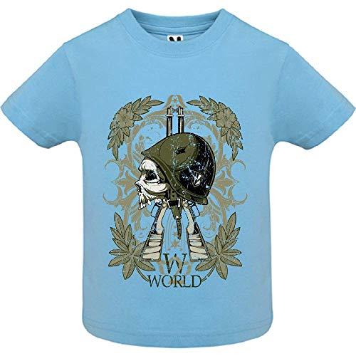LookMyKase T-Shirt - World War Symbol - Bébé Garçon - Bleu - 6mois
