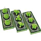 Velas Cactus, 9 Piezas Velas Aromáticas, Velas Decorativas Hechas a Mano, Vela Suculenta...