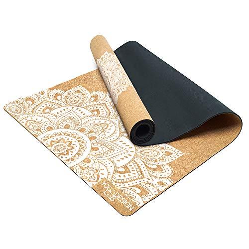 Yoga Design Lab   Il Tappetino da Yoga in Sughero   Eco Luxury   Mandala White, 1.5mm