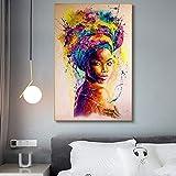KWzEQ Graffiti-Kunstplakat der Schwarzafrikanerin mit abstraktem afrikanischen Mädchen auf...
