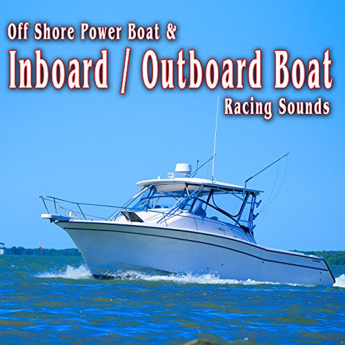Inboard / Outboard Boat Racing Around the Race Course, Slows Down into the Pits and Shuts off, Recorded from Internal Mic