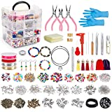 Jewelry Making Kit,Jewelry Making Supplies Includes Jewelry Pliers, Beading Wire, Jewelry Beads and Charms...