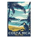 Vintage-Poster Costa Rica Pura Vida Leinwandkunst