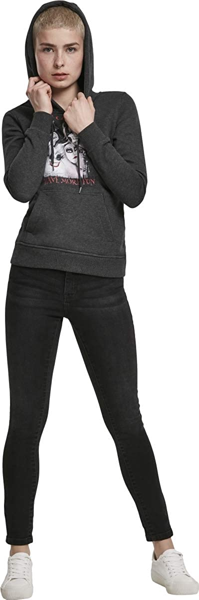 MERCHCODE Ladies Bad Girls Have More Fun Hoody Sweat à Capuche Femme (Lot de 1) Anthracite