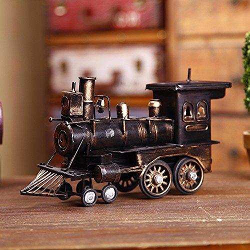 VanMe Decoración Retra para El Hogar Adornos Decoraciones De Artes del Hierro Locomotora De Vapor Creativo