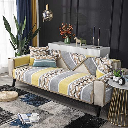 RR&LL Fundas de sofá antiesquí para sala de estar, de felpilla, moderna, minimalista, de esquina, para sofá, 11 colores