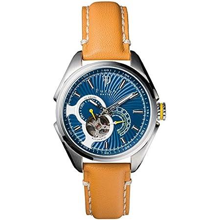 [Furbo design]フルボデザイン 腕時計 メンズ ウォッチ ブランド 正規品 日本製自動巻き 機械式時計 スケルトン f7001sblbr ブルー/ライトブラウン