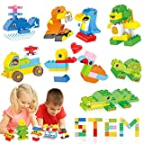 Building Block Set Toy for Toddlers Boy Girl, 219 Pieces DIY Animals Construction Large Building Bricks Kit with Storage Box, STEM Educational Preschool Learning Toy Gift for Child Kids Boys Girls