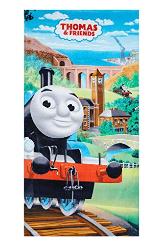 Toalla de playa Thomas and Friends Toalla de playa Thomas para niños 70 x 140 cm, 100% algodón