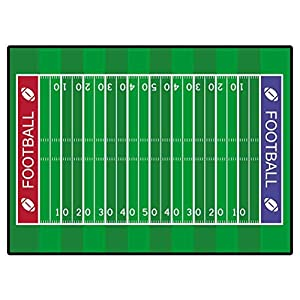 Christmas Rugs Kitchen Vector American Football Field for Boys Girls Kids Baby College Dorm Living Room 6 X 9 Ft