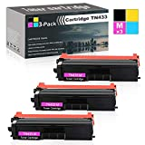 Compatible High Yield (Magenta,3-Pack) Laser Toner Cartridge Replacement for Brother TN433 use with HL-L8260CDW L9310CDWT L9310CDWTT MFC-L8610CDW L9570CDWT DCP-L8410CDW Printers Toner.