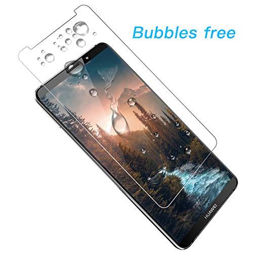 POOPHUNS Panzerglas Schutzfolie für Huawei Mate 10 Pro, [2 Stück] 9H Härte Panzerglas Folie [kompatibel 3D-Touch] [Blasenfreie] [Anti-Kratzen] [Anti-Öl] Displayschutzfolie für Huawei Mate 10 Pro - 5