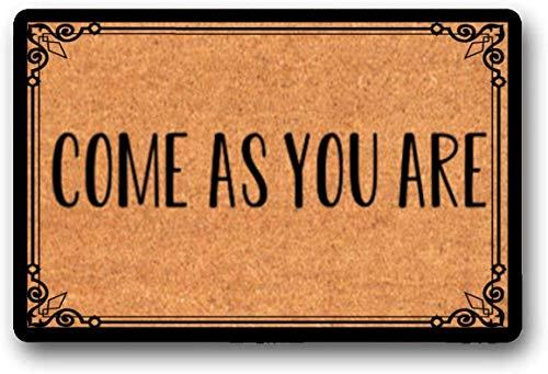 Yolocal Come As You are - Felpudo (45 x 75 cm, 45 x 75 cm), diseño de cristiano