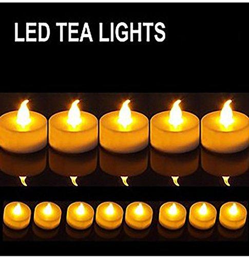 Disok – LED-kaarsen, decoratie, kleine kaarsen, decoratieve kaarsen, batterijen inbegrepen (wax, niet rook) – decoratie voor evenementen, bruiloften, chiringute, feesten