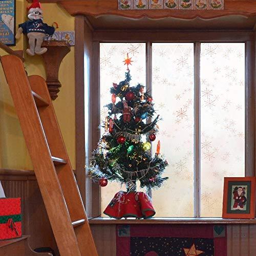 LMKJ Película de Ventana de Mantenimiento Fresco estática de Copo de Nieve, lámina de Vidrio Decorativa Reutilizable de...