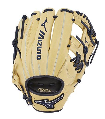 Mizuno GMVP1154PSE7 MVP Prime SE Infield Baseball Gloves, 11.5' Tan/Navy, Right Hand Throw
