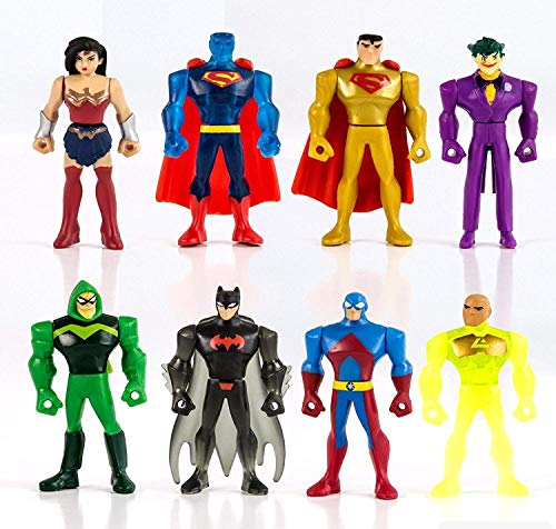 Set 8 Mini Figuras 5cm Justice League Mighty Minis