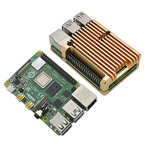 xingxing 4G RAM RPi 4B placa base con accesorios electrónicos de aleación de aluminio CNC, color negro, gris, azul, rojo, dorado, plateado