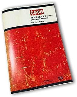 J I Case 480Ck-580Ck Tractors Operators Owners Manual Construction King 480 580