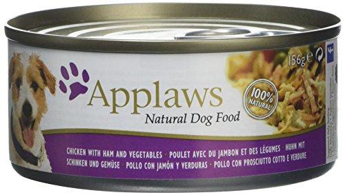 Applaws hondenvoeding in blikjes, Kip met ham/groenten en rijst, 12 x 156g, kip, ham en groenten.