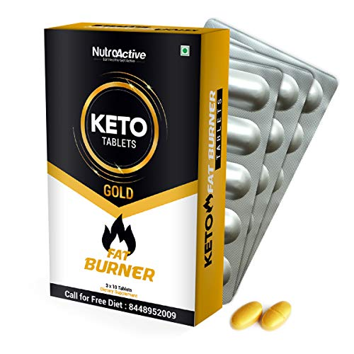 NutroActive Keto Tablets Fat Burner for Weight Loss 30 Tab