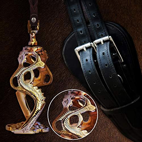 322 barokke draak stijl-mooie koninklijke paard rijden stijgbeugels