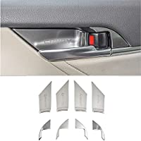 NCUIXZH 車ステンレス鋼インテリアドアハンドルボウル装飾カバートリム、トヨタカムリ70 XV70 2018 20192020インテリアアクセサリー用