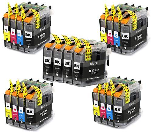 Bergsan 20 Druckerpatronen Kompatibel zu Brother LC223 für MFC-J5320DW DCP-J4120DW MFC-J480DW MFC-J5720DW MFC-J5625DW MFC-J4620DW MFC-J4420DW MFC-J880DW MFC-J4625DW DCP-J562DW MFC-J5620DW MFC-J680DW