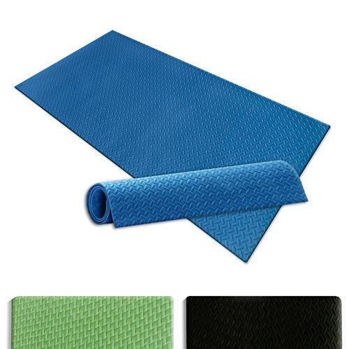 casa pura® Yogamatte Eva | Blau | 90 x 190 cm | schadstofffrei | hautfreundlicher Eva-Schaum