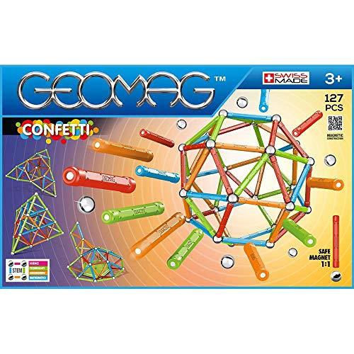 Geomag- Confetti Gioco di Costruzione Magnetico, Multicolore, 127 Pezzi, 354