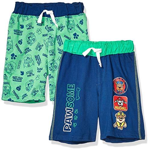 Paw Patrol – Pantalones Cortos para niño (2 Unidades), Verde, 6