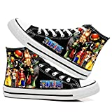 SevenLeo Zapatillas Hombre Zapatos Hombre Zapatillas Mujer Bambas Mujer Unisex Zapatillas Lona Zapatos Casuales Zapatos De Niño Niña Zapatos One Piece Luffy Anime Shoes 40